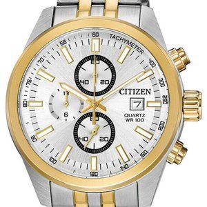 Sale! Citizen Chronograph 43mm Two Tone Watch